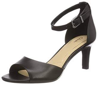 Clarks Laureti Grace, Women's Ankle Strap Heels, Black (Black Leather -), 7 UK (41 EU)