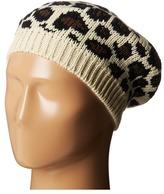 San Diego Hat Company KNH3316 Leopard Knit Beret