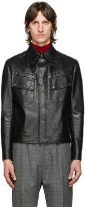 Givenchy Black Leather Vintage Fit Jacket