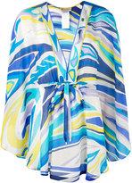 Emilio Pucci printed v-neck blouse - women - Silk/Cotton - 42