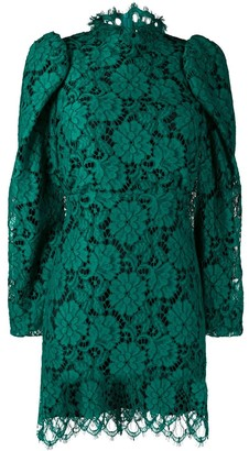 Sandro Paris Lace Embroidered Mini Dress