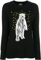 Markus Lupfer sequinned polar bear jumper