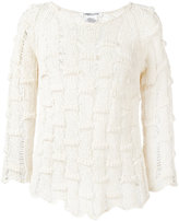 Lamberto Losani open knit jumper - women - Cotton/Polyamide - M