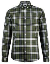 Burton Mens Khaki Long Sleeve Oxford Shirt