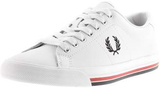 Fred Perry Underspin Leather Trainers White