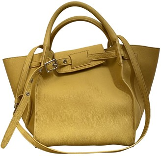 Celine Big Bag Yellow Leather Handbags