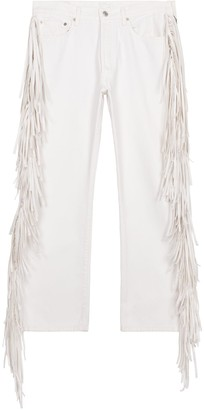 1/Off Paris Levi's 501 fringed white jeans