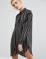 Monki Stripe Shirt Dress