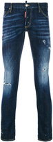 DSQUARED2 distressed Clement jeans - men - Cotton/Calf Leather/Polyester/Spandex/Elastane - 44