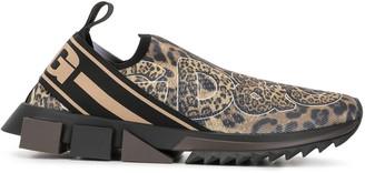 Dolce & Gabbana Sorrento leopard-print sneakers