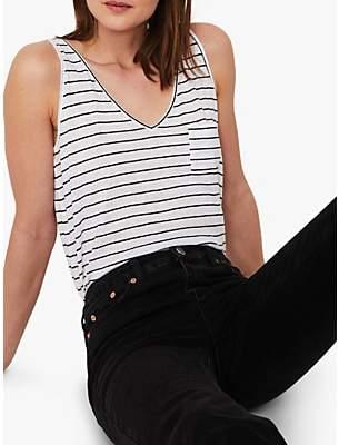 Warehouse Linen Cotton Jersey Vest Top