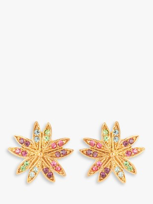 Susan Caplan Vintage D'Orlan 22ct Gold Plated Swarovski Crystal Clip-On Earrings, Gold/Multi