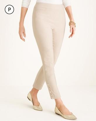 So Slimming Petite Brigitte Button-Hem Ankle Pants