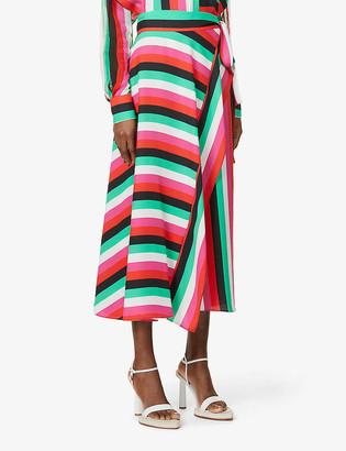 Diane von Furstenberg Carson stripe crepe maxi skirt