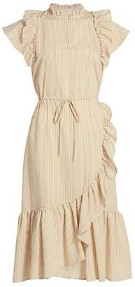 MUNTHE Ruffle Trim Midi Dress