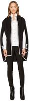 Versace Contrast Overcoat Cape Women's Coat