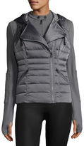 Blanc Noir 3-in-1 Satin Packable Moto Jacket & Vest