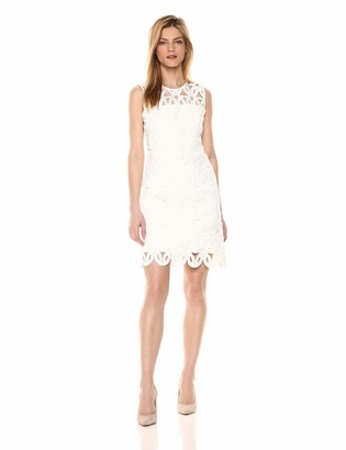 Milly Women's Sleevless Embroided Scallop Lace Sienna Dress