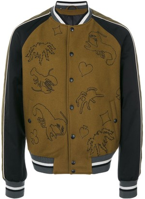 Lanvin Scorpion Patch Bomber Jacket