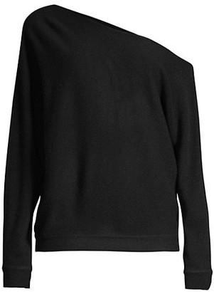 Minnie Rose Asymmetric Off-The-Shoulder Cashmere Top