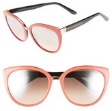 Jimmy Choo Women's 'Danas' 56Mm Cat Eye Sunglasses - Coral/ Black