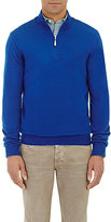 Barneys New York MEN'S HALF-ZIP SWEATER