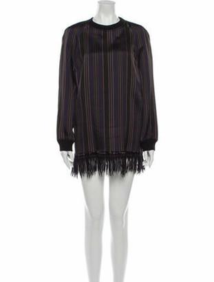 Dries Van Noten Striped Mini Dress Purple