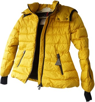 Moncler Hood Yellow Polyester Jackets