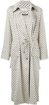 Christian Wijnants Little Dots coat - women - Ramie/Spandex/Elastane/Viscose - 36