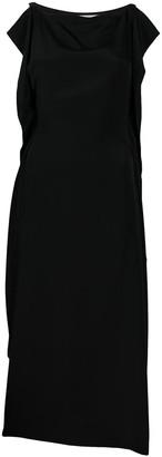 McQ Silk Draped Midi Dress