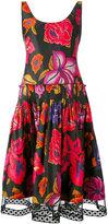 Alberta Ferretti pleated waist floral dress - women - Cotton - 42