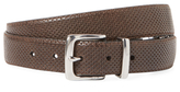 John Varvatos Embossed & Perforated Leather Belt