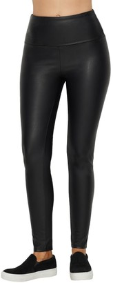 Lysse Texture Faux Leather Medium Control Leggings