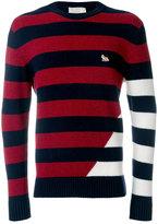 MAISON KITSUNÉ striped jumper - men - Lambs Wool - M