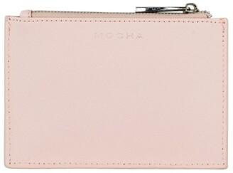 Mocha Jane Leather Coin Purse - Blush