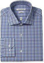 Perry Ellis Men's Slim-Fit Wrinkle-Free Multi Tattersall Dress Shirt with Adjustable Collar