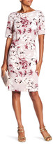 Chetta B Bateau Floral Print Dress