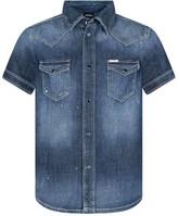 Diesel Boys Blue Denim Shirt