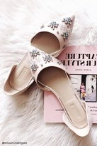 Forever 21 FOREVER 21+ Rhinestoned Faux Suede Flats