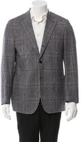 Salvatore Ferragamo Plaid Wool Blazer