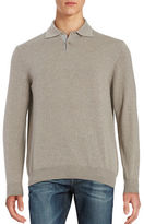 Black Brown 1826 Collared Merino Wool Sweater