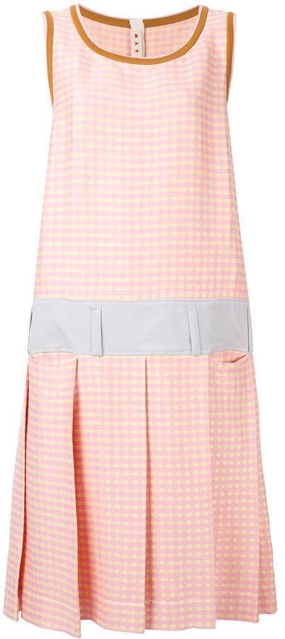 Marni Check Print Shift Dress