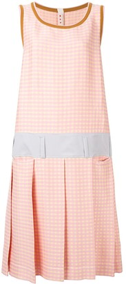 Marni Check Print Shift Dress