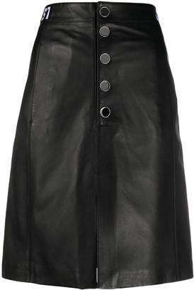 Just Cavalli button-through A-line skirt