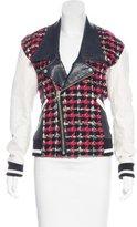 Junya Watanabe Comme des Garçons Wool Vegan Leather-Trimmed Jacket