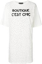 Moschino studded T-shirt dress - women - Cotton - 36