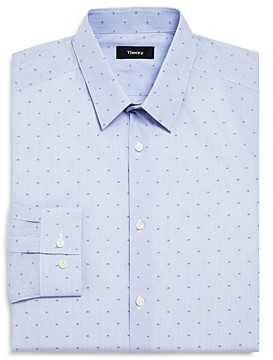 Theory Micro Stripe and Geometric Dot Slim Fit Dress Shirt