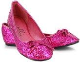 Ellie Shoes Women's Mila Fuschia Glitter Adult Ballet Flats 7 Fuchsia