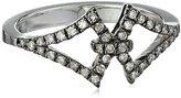 Badgley Mischka Fine Jewelry Champagne Diamond Interlocking Arabesque Ring, Size 7