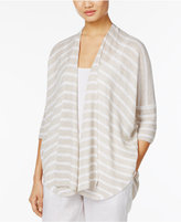 Eileen Fisher Organic Linen Striped Cardigan